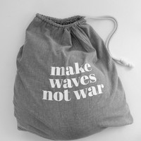 MAKE WAVES NOT WAR WASHER BAG | HOMEWARES | KAWAIIAN LION - Hunters and Gatherers