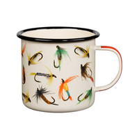Colorful Fishhook Enamel Mug