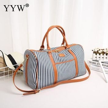 Family Friends party Board game Striped Canvas Tote Bag for Men Large Size Unisex Handbags Blue Women Travel Shoulder Bags Male Soft Crossbody Bag AT_41_3