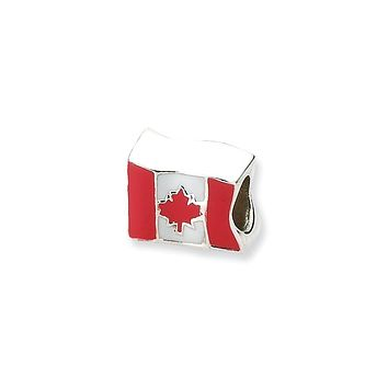 Sterling Silver Canada Flag Bead Charm