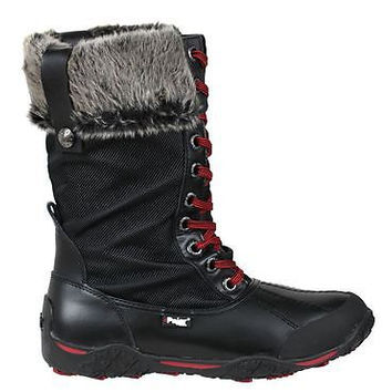 Pajar Womens Winter Boots Garland Black Waterproof Leather/Nylon