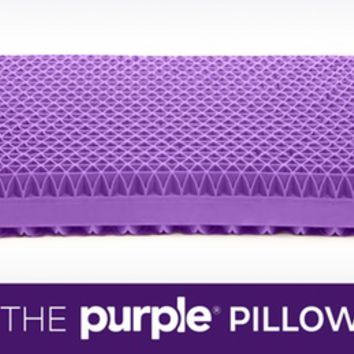 Purple® Pillow: The World's First No-Pressure Head Bed