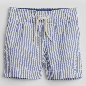 "3"" Pull-On Shorts in Seersucker 