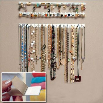 Woman Fashion Jewelry Earring Organizer Hanging Holder Necklace Display Stand Rack Hook 9pcs/set