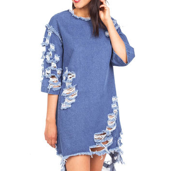 Reform Denim Dress