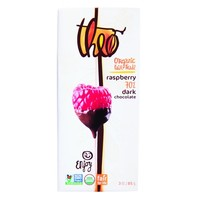 Theo Chocolate Organic 70% Dark Chocolate Bar Raspberry - 3 oz