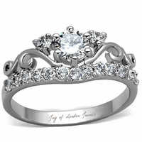 A Celtic 1CT Round Cut Russian Lab Diamond Promise Engagement Anniversary Wedding Ring