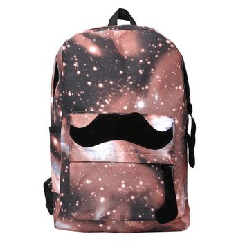 Galaxy Pattern Unisex Women's Backpack For Teenage Girls Travel Backpack Canvas Leisure Bags Fashion School Bag School Supplies