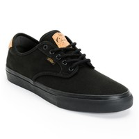 Vans Chima Pro Cork Black Canvas Skate Shoes