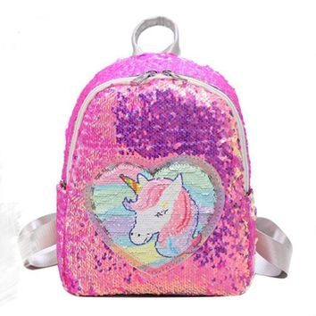 Backpack Sequins Unicorn Backpack Fashion Glitter