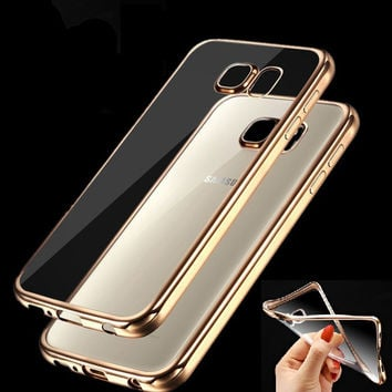 Plating Cases For Samsung Galaxy A3 A5 A7 2016 2017 J1 J3 J5 J7 2015 S3 S4 S5 S6 S7 Edge Plus Cover Soft TPU Protective Case