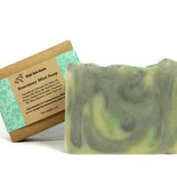 Rosemary Mint Soap, Handmade Soap, Vegan Soap, Gift under 10