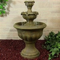 Outdoor Classics Two Tier Falls Outdoor Fountain