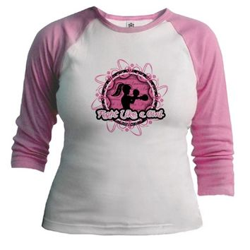 Breast Cancer Fight Like Girl Flourish Shirt