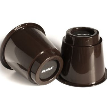 """Slipstick CB650 5"""" Extra Storage Under-Bed Risers (set of 4) Chocolate Color"""
