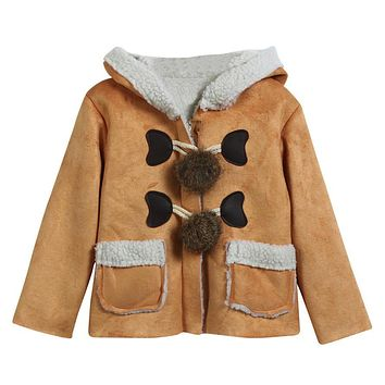 Cute Baby Infant Autumn Winter Hooded Coat Cloak Jacket Thick Warm Clothes Sep 15