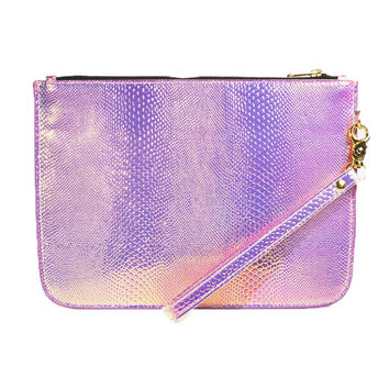 The Iridescent Clutch in Pink