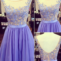 Charming Tulle and Appliques Short Graduation Dresses,Sleeveless Homecoming Dresses, Homecoming Dress,127