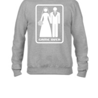 GAME OVER (HATE MARRIAGE) dark background - Crewneck Sweatshirt