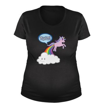 Toot Unicorn Farting Maternity Pregnancy Scoop Neck T-Shirt
