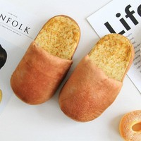 One size 2017 New Style individuality simulation bread lovers adult slippers at home i