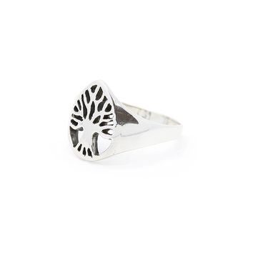 ONE LOVE, ONE LIFE. SILVER TREE OF LIFE RING