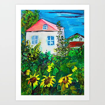 small white house Art Print by AidaArt