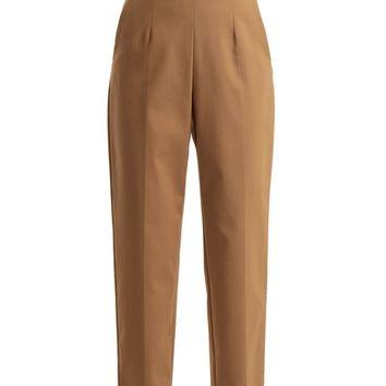 High-rise tapered-leg trousers | Sara Battaglia | MATCHESFASHION.COM UK