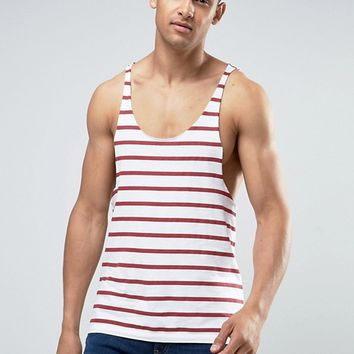 ASOS Stripe Tank With Extreme Racer Back at asos.com