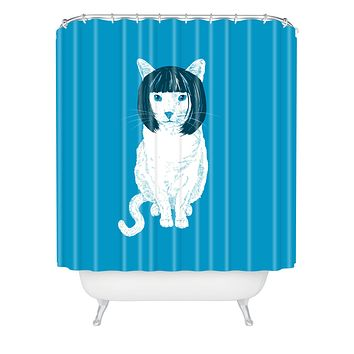 Matt Leyen Bobcat Shower Curtain