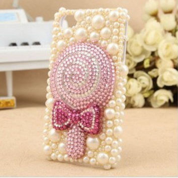 3D candy Iphone case iPhone 4 Case, Luxury Swarovski Rhinestone iPhone case , Bling iPhone 4/4s Case Cover ,iphone 5 case, iphone 5 cover