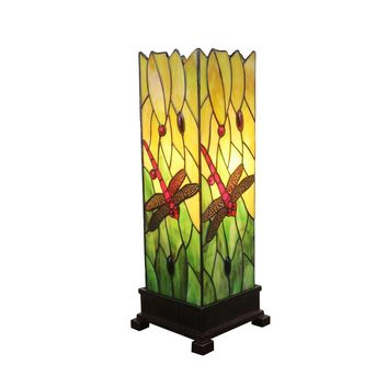 "Amora Lighting Tiffany Style AM024TL05 18"" Dragonfly Table Lamp"