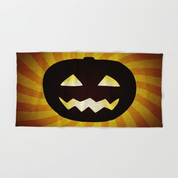 Vintage Halloween pumpkin gifts Hand & Bath Towel by Natalia Bykova