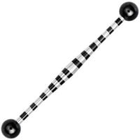 Black Candy Striped BVD Diamond Shaped Industrial Barbell | Body Candy Body Jewelry