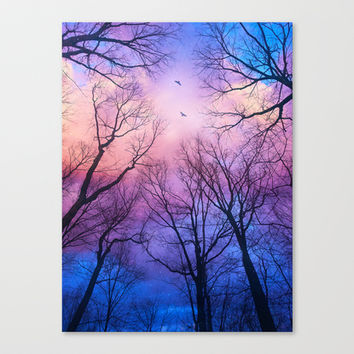 A New Day Will Dawn (Day Tree Silhouettes) Canvas Print by Soaring Anchor Designs