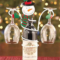 Holiday Wine Bottle & Glass Holders