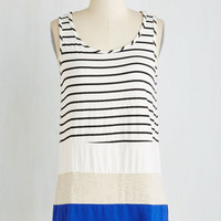 Colorblocking Mid-length Sleeveless Stay Magnifique Top