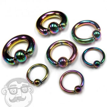 Rainbow Captive Bead Ring