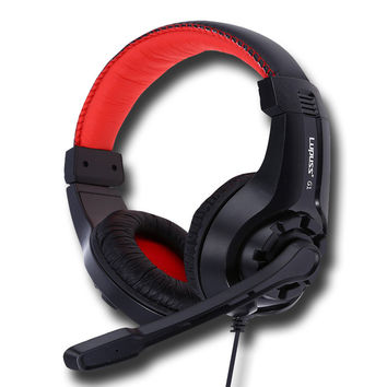 Lupuss G1 Gaming Headphone 3.5mm Surround Stereo Wired Headset Headband Low Bass Headphone with Mic Support Laptop for PC Games