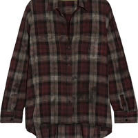 ENZA COSTA Plaid cotton top – 61% at THE OUTNET.COM
