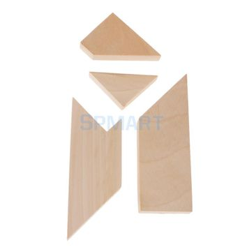 Wooden T Shape Puzzle Toy Vintage Game Tangram Style Family Play Educational Toy Classic Puzzle Brain Teaser Kid Child Gift