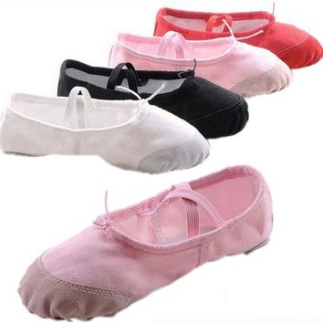 ISMRCL Leather head US size wrong please buy as CM only 23~44 girls soft sole dancing shoes for women's ballet dance shoes