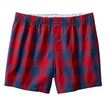Banana Republic Mens Buffalo Check Boxer