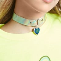 Metallic Mood Locket Choker