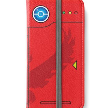Team Valor Themed Pokedex Phone Case by patmakesart