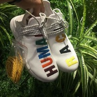 Sale Adidas Pharrell Williams NMD Human Race Birthday Colorful Sport Running Shoes Classic Casual Shoes Sneakers