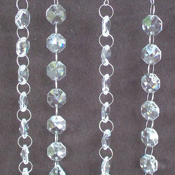 Martini Glass Vase Hanging Crystals 4 pc, Wishing Tree, Manzanita Branch, Wedding Tree Garland, Table Centerpiece
