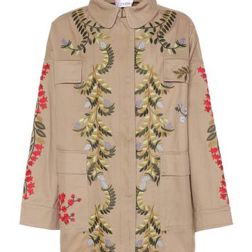 Embroidered cotton jacket