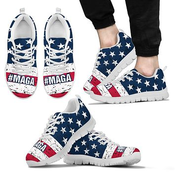 #MAGA Trump Men's Running Shoes Make America Great Again