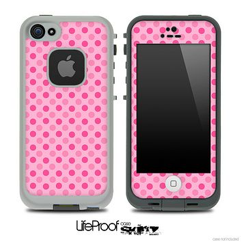 Scattered Pink Dots Skin for the iPhone 5 or 4/4s LifeProof Case